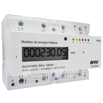 MEDIDOR KWH 5(60)A 3X230/400V-50HZ. RS48