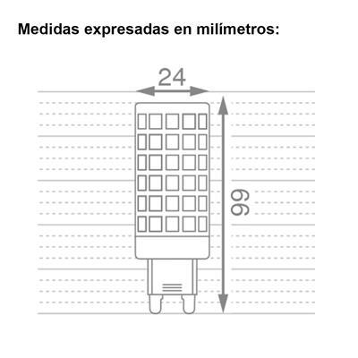 BIPIN LED G9 12W MACROLED AC220-240V CALIDO 2700K