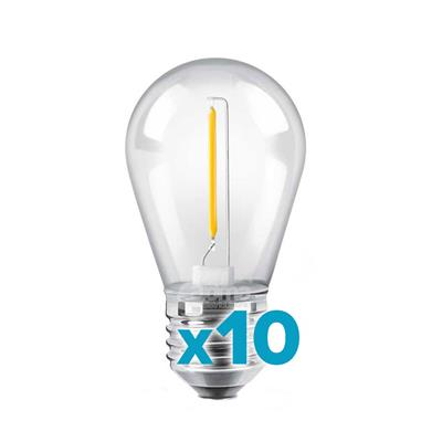 X10 LAMPARA FILAMENTO LED 1W E27 ROJO YARLUX
